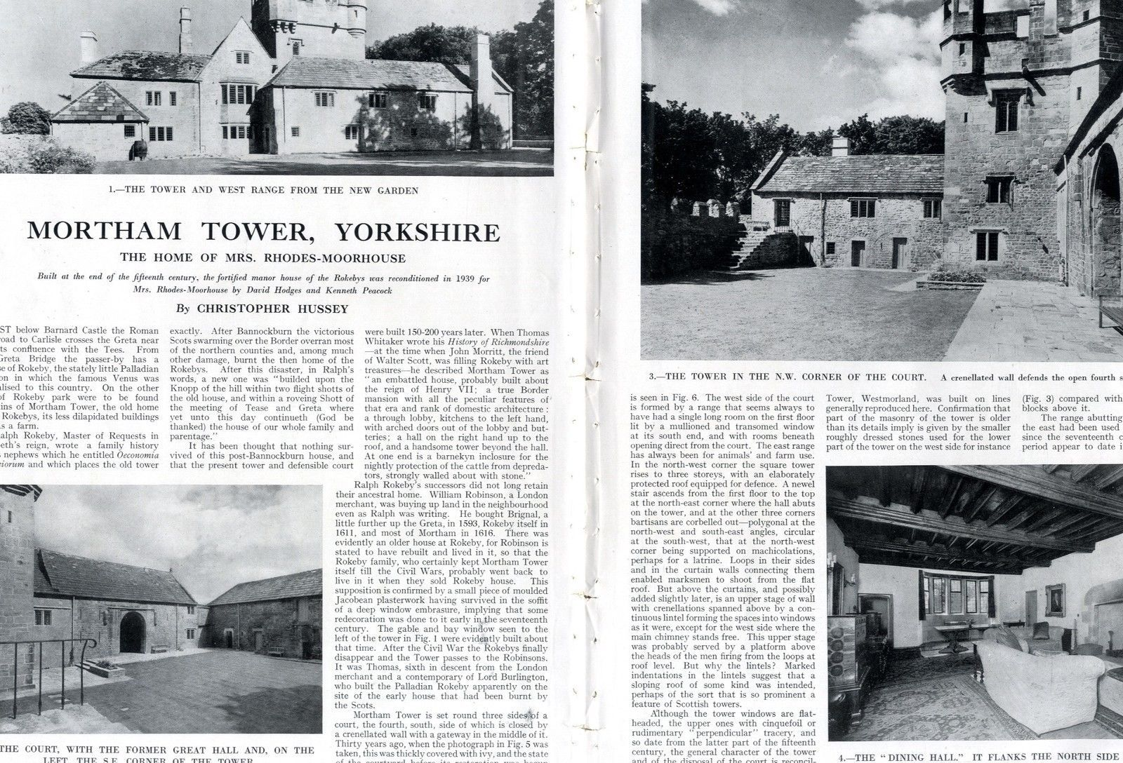 1945 COUNTRY LIFE Magazine MORTHAM TOWER YORKSHIRE Elizabeth Hay Gurney  VINTAGE (9252)